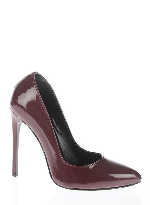 Bambi Stiletto Ayakkabı Bordo